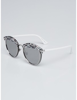 Black/Pink/White Acetate Offset1 Round Sunglasses by Christian Dior