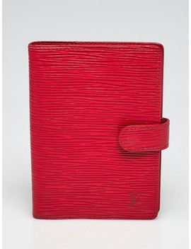 Red Epi Leather Small Ring Agenda/Notebook by Louis Vuitton