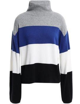 Faber Color Block Cashmere Turtleneck Sweater by Veronica Beard