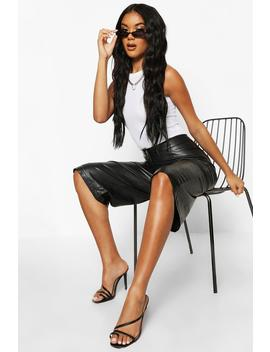 Leather Look Tailored City Shorts by Boohoo