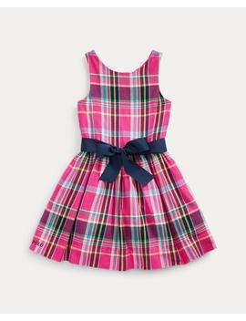 Plaid Cotton Twill Dress by Ralph Lauren