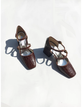Suzanne Rae Double Strap Mary Jane   Brown by Garmentory