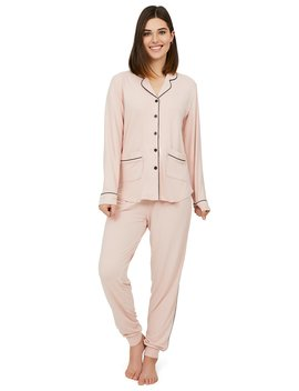 2 Piece Shirt Collar Pyjama Set by Suzy Shier