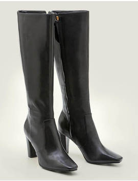 Waveney Knee High Boots   Black by Boden
