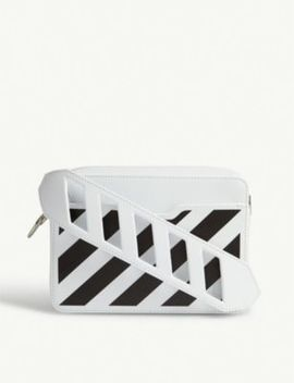 Striped Leather Cross Body Bag by Off White C/O Virgil Abloh