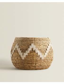 Large Zigzag Weave Basket  Baskets   Living Room by Zara Home
