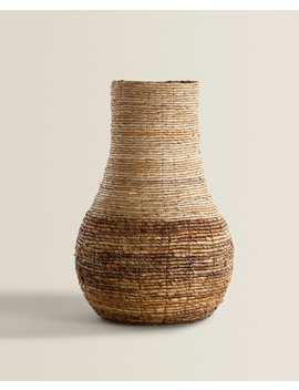Round Natural Fiber Basket  Baskets   Living Room by Zara Home