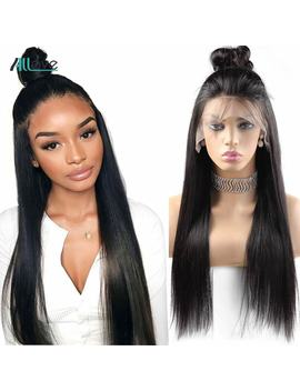 Allove Straight Lace Front Human Hair Wigs For Black Women Straight Lace Front Wig 8 24 Remy Brazilian Wig 250 Density Lace Wig by Ali Express.Com