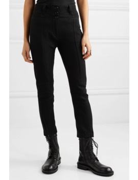 Cropped Wool And Cotton Blend Slim Leg Pants by Ann Demeulemeester