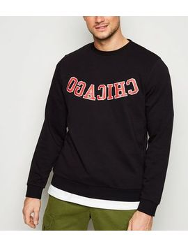 Black Chicago Slogan Sweatshirt by New Look