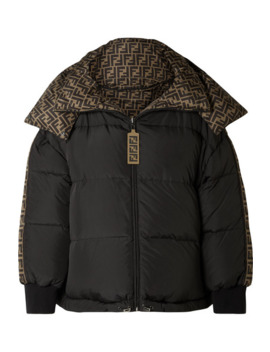 Reversible Quilted Printed Shell Down Jacket by Fendi