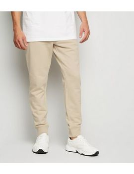 Stone Cuffed Joggers by New Look