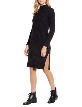 Ribbed Long Sleeve Sweater Dress by Bp.