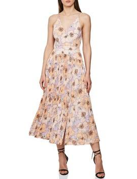 Corrine Pleated Midi Dress by Reiss