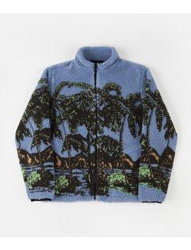 Stussy Hawaiian Jacquard Mockneck Sweatshirt   Blue by Stussy