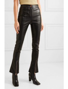 Faux Leather Flared Pants by Andersson Bell