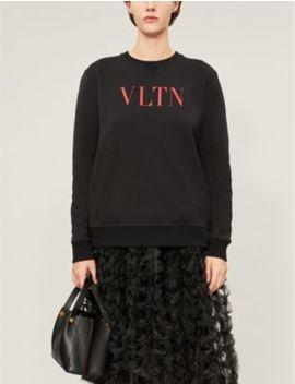 Logo Print Cotton Blend Jersey Sweatshirt by Valentino