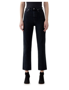 Pinch Waist High Rise Straight Jeans by Agolde