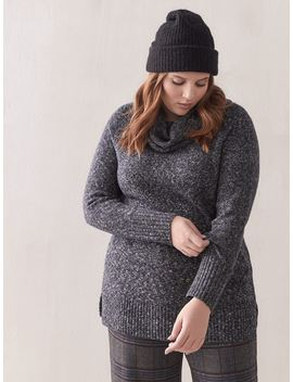 Long Cowl Neck Sweater   Addition Elle by Penningtons