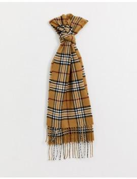 Burton Menswear Scarf In Camel Check by Burton Menswear London