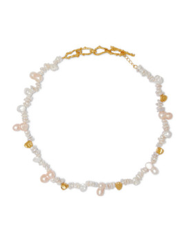 + Pach Tach Gold Plated Pearl Necklace by Pacharee