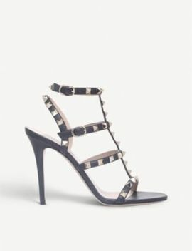 Rockstud 105 Studded Leather Sandals by Valentino