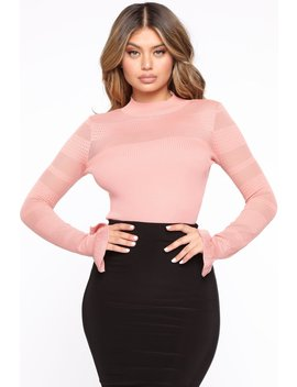 Kiss Me Softly Ribbed Sweater   Rose by Fashion Nova