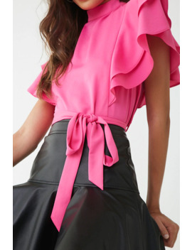 Flounce Belted Top by Forever 21