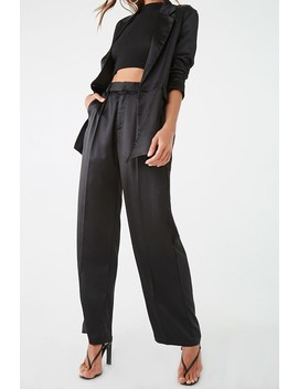 Satin Wide Leg Pants by Forever 21