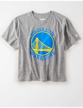 Tailgate Women's Golden State Warriors Cropped T Shirt by American Eagle Outfitters