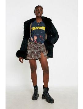 Urban Renewal Inspired By Vintage Leopard Mesh Mini Skirt by Urban Renewal