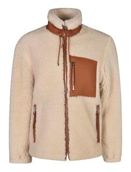 Loewe Furry Detail Zipped Jacket by Loewe