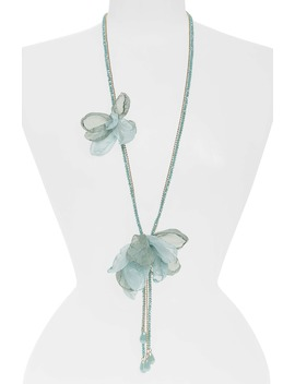 chiffon-flower-lariat-necklace by stella-+-ruby