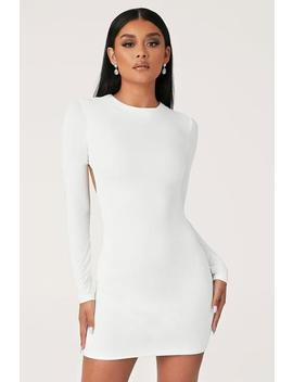 Rayne Long Sleeve Mini Dress   White by Meshki