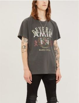 Beverly Hills Cotton Jersey T Shirt by Amiri