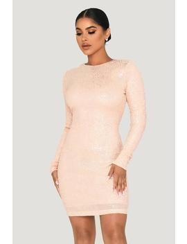 Christina Long Sleeve Dress   Iridescent Pink by Meshki