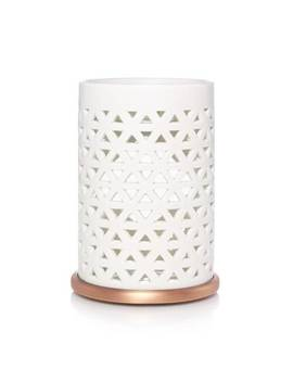 Belmont Collection White W/ Copper Bottom by Yankee Candle