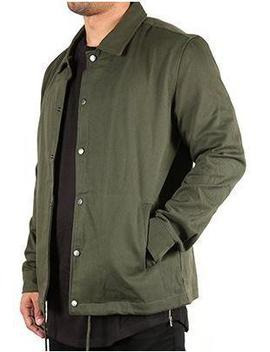 Heavy Twill Coach's Jacket   Olive Green by Fxn