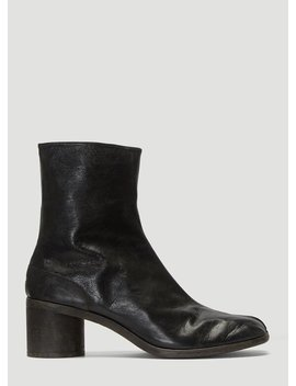 Tabi Leather Boots In Black by Maison Margiela