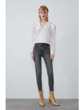 Spodnie Jeansowe Hi Rise Skinny Vintage by Zara