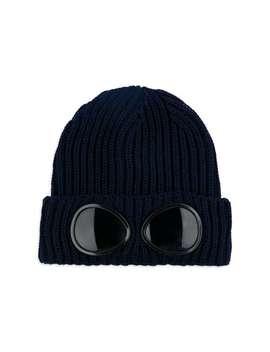 Boys Goggle Beanie Hat   Navy by C.P. Company