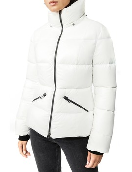 Lustrous Water Repellent Hooded Down Coat by Mackage