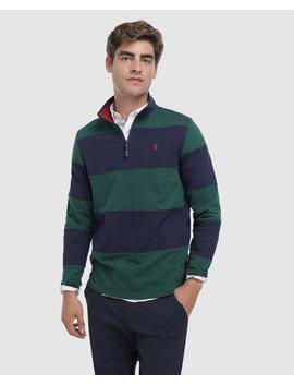 Sweatshirt Verde De Homem Com Gola Alta by Izod