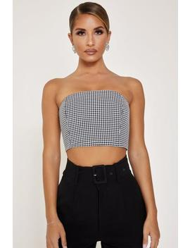 Kessa Boned Strapless Top   Houndstooth by Meshki