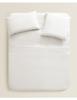 Gray Linen Duvet Cover  Blankets   Bedroom by Zara Home