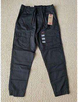 Nwt Men's Levi's Charcoal Utility Cargo Pocket Tapered Jogger Pants Sizes S 2 Xl by Levi's