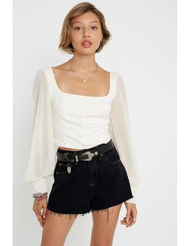 "Urban Outfitters – Bluse ""Lena"" Mit Transparenten Ärmeln by Urban Outfitters Shoppen"