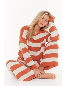 Escape Artist Striped Jumper And Trousers Lounge Set by Nasty Gal