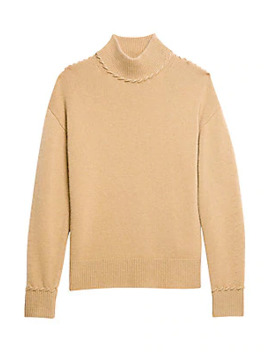Whipstitch Cashmere Turtleneck Sweater by Theory