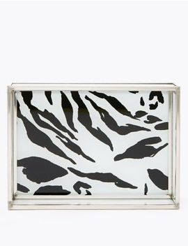 Zebra Print Acrylic Jewellery Storage Tray by Marks & Spencer